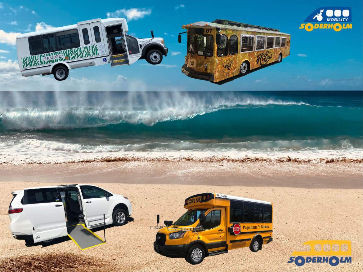 oahu bus company soderholdm mobility offers a wide range of buses, vans, and vehicles, right on the beautiful island of oahu