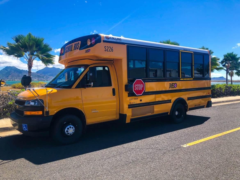 collins classic school bus in Oahu, Hawaii