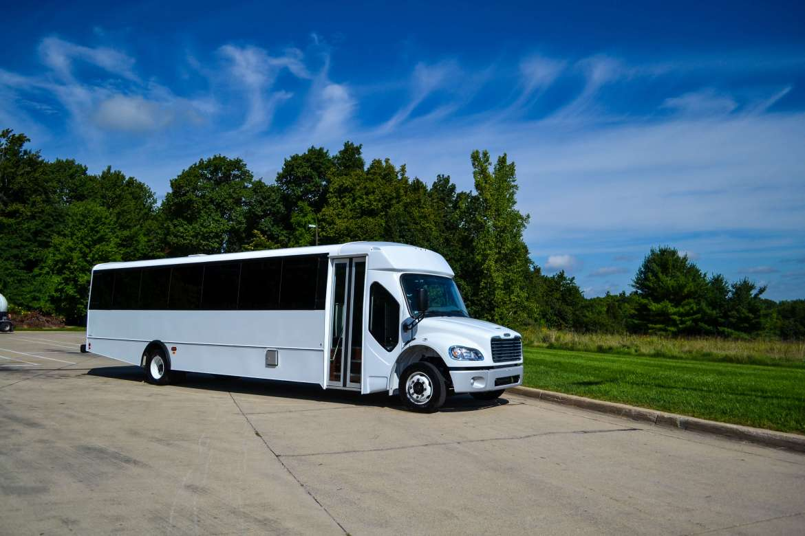 check out beautiful and large tour cutaway buses for a wonderful tour experience