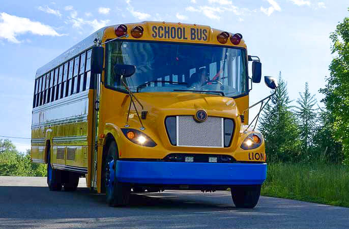 Lion Bus type c for larger school bus transportation needs is available from soderholm bus and mobility